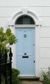 beautiful sky blue front door lovely colour against the white