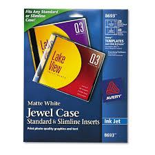 free jewel case template inkjet cd dvd jewel case inserts matte white 20 pack walmart com