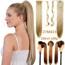 clip in ponytail 1pc 22inch 90g synthetic clip in ribbon ponytail