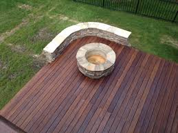 Wood Firepit Wood Deck Pit For Wood Deck Use Outdoor Pits