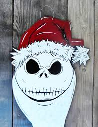 Outdoor Christmas Decoration Hangers by Nightmare Before Christmas Inspired Door Hanger Jack Skellington