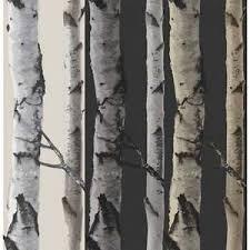 fine decor birch tree wallpaper natural beige cream black