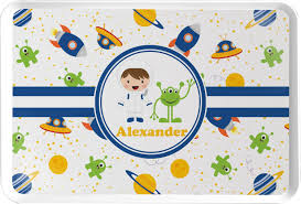 themed serving tray boy s space themed serving tray personalized youcustomizeit