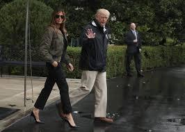 melania trump wore stilettos to tour hurricane harvey devastation