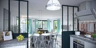 separation vitree cuisine salon separation de cuisine en verre amazing cloison coulissante vitr e