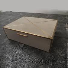 Taupe Zebra Rug Gray Shagreen Box With Brass Inlay Galart International Zebra