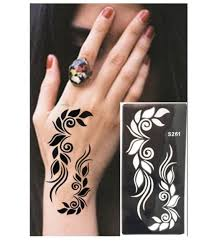 wholesale henna tattoo stencils new design flower butterfly tattoo