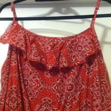 52 off old navy dresses u0026 skirts red bandana print dress from