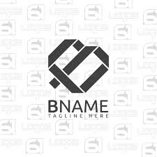 letter b logo 2d logo iconic logo abstract business vector