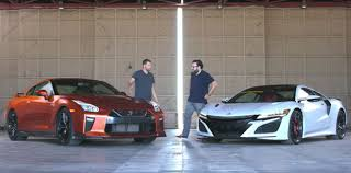 nissan supercar 2017 2017 acura nsx takes on the nissan gt r in epic japanese supercar
