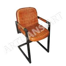vintage comfortable seating genuine leather butterfly chair