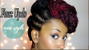 faux updo tutorial for short twa natural hair curlynikki