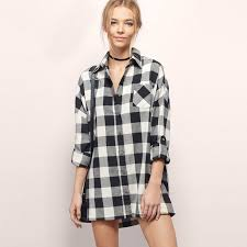 Black And White Plaid Shirt Womens Compare Prices On Womans Plaid Shirt Online Shopping Buy Low