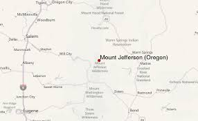 map of oregon showing madras mount jefferson oregon mountain information
