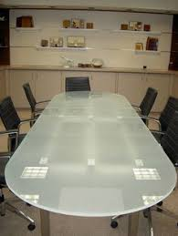 Frosted Glass Conference Table Frosted White Glass Top Boardroom Table Contemporary Lectern And