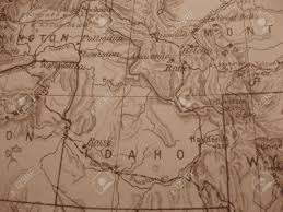 Map Of Idaho State by Vintage Map Of 1929 In Sepia Idaho Gem State Stock Photo
