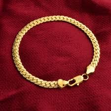 mens gold hand bracelet images 18k men women gold plated side bangle hand chain bracelet png