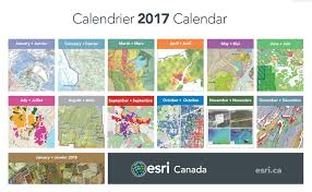 Esri Story Maps Which Maps And Apps Made It To The 2017 Esri Canada Calendar