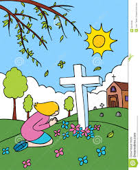 graveyard clipart cemetery praying royalty free stock image image 9547646