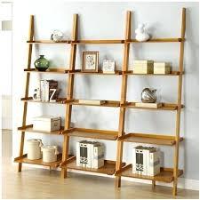 5 Tier Bookshelf Ladder Bookcase Oak Ladder Shelf Bookcase Ladder Shelf Oak Ladder