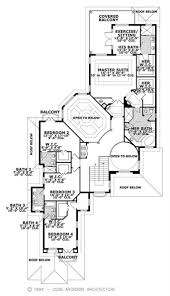 luxury home with 5 bdrms 5872 sq ft floor plan 107 1192 floor plan second story this image shows the upper living and dining areas of the house plan