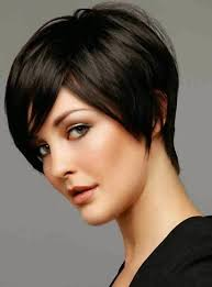 how to cut hair with a weight line short with swoop bang i love the weight line at ocipical with