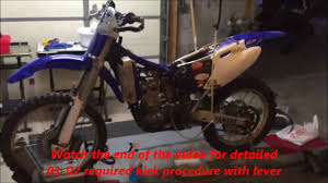 how to cold start and start a yz250f in 6 min full detailed