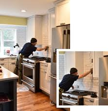 How To Do A Kitchen Backsplash Subway Tile Kitchen Backsplash Installation Jenna Burger