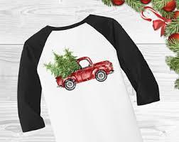 christmas truck etsy