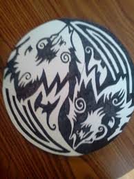 wolf yin yang tattoo drawing
