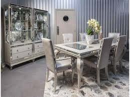 michael amini hollywood loft 4 leg dining table and chair set for