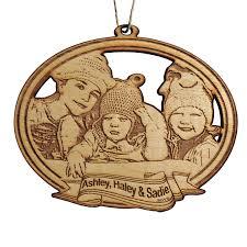 5 custom photo ornament laser cut and etched wood custom