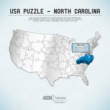 North Carolina State Map usa map puzzle one state one puzzle piece north carolina