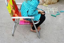 Vintage Aluminum Folding Chairs Renew Old Aluminum Chair For Your Lawn Using Multi Colored Cords