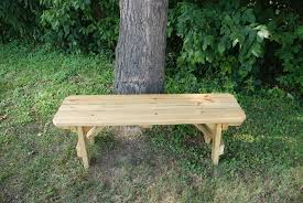 Wooden Bench And Table 54