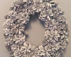 pine cone wreath pinecone wreath etsy