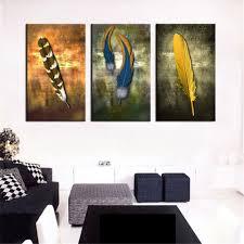 3 pieces canvas art animal white horses decorative wall art