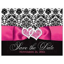 affordable save the dates wedding save the date postcard black and white damask printed