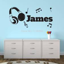 compare prices on headphones art online shopping buy low price personalised vinyl wall sticker headphones music notes art decal china