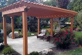 Concrete Pergola Designs by Landcrafters Landscaping Provides Landscaping Design Lawn And
