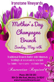 2017 mothers day brunch at ironstone murphys california