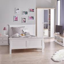 Kleines Schlafzimmer Nur Bett Bett Pariso 140x200 Weiß Dänisches Bettenlager
