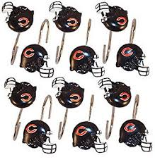 Nfl Shower Curtains Nfl Chicago Bears Shower Curtain Hooks Rings Set Of