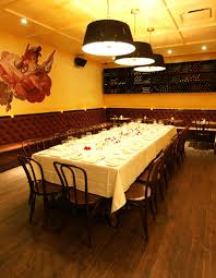 private dining room interior design of cognac brasserie restaurant