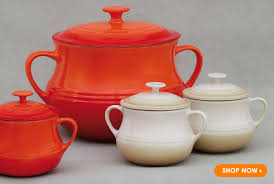 decor fascinating le creuset stoneware for kitchen style