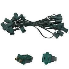 outdoor sockets for christmas lights 25 ft c9 christmas light stringer indoor outdoor lighting patio 25