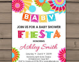 mexican baby shower invitation floral gold