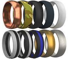 rubber wedding rings 10 pcs silicone wedding ring rubber band comfortable