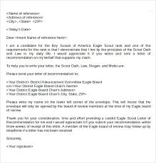 letter of recommendation for eagle scout template 28 images