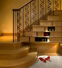Kitchen Stairs Design Kitchen Room Storage Under Stairs Staircase Transitional With